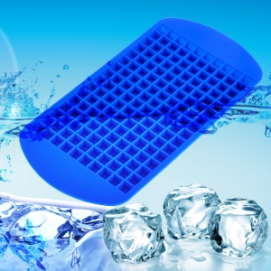 Mini Square 160 Silicone Ice Cube Mould Easy-Release Silicone Ice Cube Tray - Blue