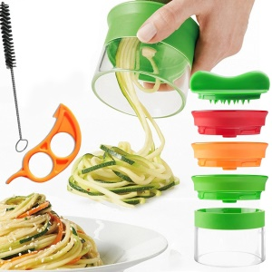 Colorized Handheld Vegetable Spiralizer Fruit Vegetable kitchen Spiral Cutter