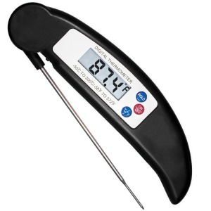 Meat Thermometer Instant Read Cooking Digital Food Probe Thermometer for BBQ/Grill - Black