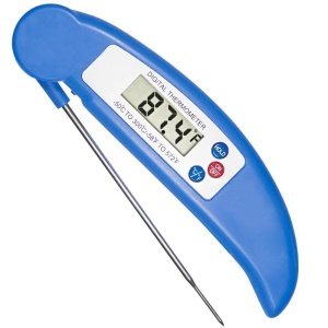 Food Baking Digital Kitchen Probe Thermometer Instant Read Barbecue Meat Thermometer - Blue