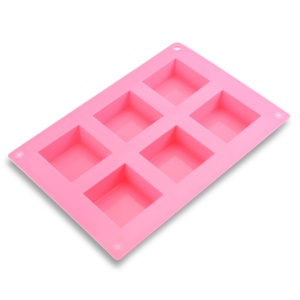 6 Compartments Silicone Square Shape Ice Cube Candy Cake Mold