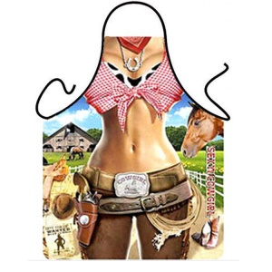 Funny Apron Bikini & Shorts Sexy Kitchen Apron Funny Creative Cooking Apron - Sexy Cowgirl