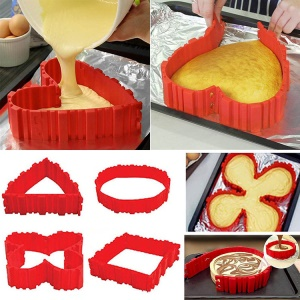 4PCS / Set Nonstick Silicone Magic Cake Mold Bake Snake DIY Ferramentas de moldagem de forno