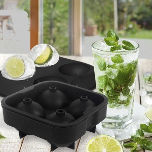 Ball Shape Silicone Ice Tray - Black