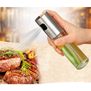 2Pcs Stainless Steel Olive Oil Vinegar Water Sprayer Bottle for Barbecue Cooking