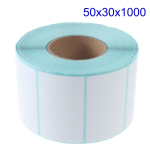 1000Pcs 50mm x 30mm Printing Label Barcode Number Thermal Paper Adhesive Sticker