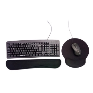 Memory Foam Mouse Pad Wrist Protector Support Keyboard Mat Kit