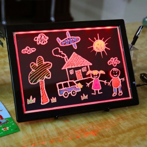 SC-K3324 Dual-use Kids Drawing Board Lighted Writing Pad USB Powered Graphics Board
