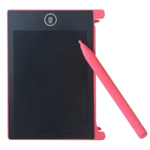 4.4-Inch LCD Ultra-thin Tablet Handwriting Drawing Board with Writing Pen - Pink