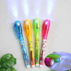 Invisible Ink Pen, Spy Pen Secret Message Writer with UV Light Magic Marker for Drawing Fun - Random