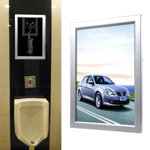 A4 Style Elevator Lobby Poster Display Plastic Advertising Frame, Size: 331 x 219 x 130mm - Silver