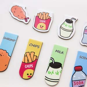 Cute Cartoon Magnetic Page Clips Bookmarks