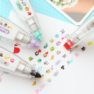 UOOPAI Cute Cartoon Lovely Animal Fashion (Flower) DIY Correction Tape/Colored Tape/Diary Decor Tape