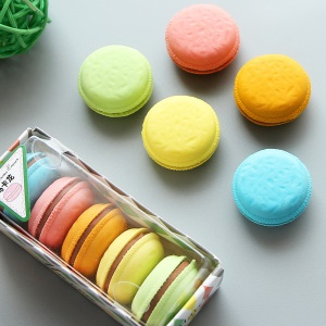 5pcs Multi-colors Macaron Eraser Mini Rubber Erasers School Supplies Gifts For Kids