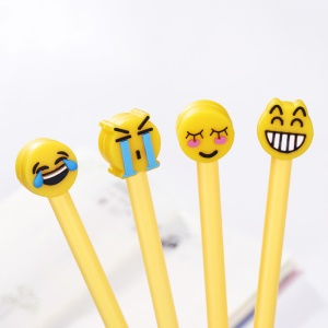 Novelty Funny face Gel-ink Pen 0.5 mm Cute Roller Ball Pens  Office School Supplies 10pcs - Green