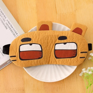 5Pcs/Set Cute Cartoon Pattern Cold and Hot Application Blindfold Eye Mask - Cartoon Tiger
