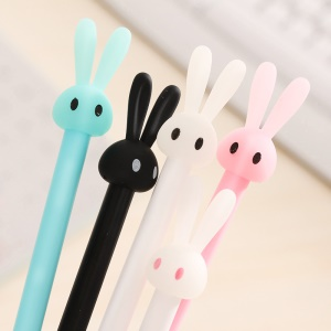 Lovely Cartoon Rabbit Gel Ink Pen Novelty Cartoon Pen (Black Ink)