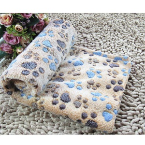 Puppy Blanket Pet Cushion Small Dog Cat Bed Soft Warm Sleep Mat S Size - Coffee