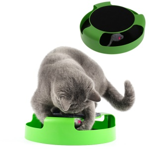 Motion Cat Toy Catch the Mouse Toy Plush Scratching Claw Mat Moving Play Toy