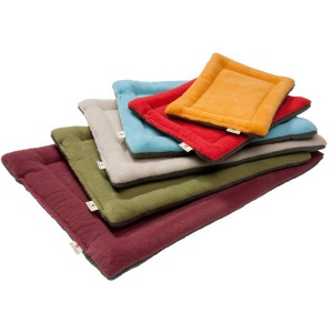 Dog Pet Blanket Sleeping Cushion Bed Mat (L Size) - Wine Red