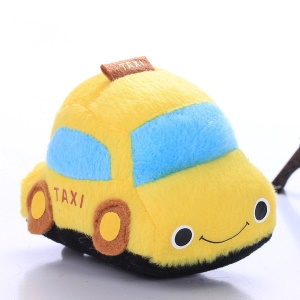 Car Shape Soft Plush Car Toy with Sound for Pet Dog Cat - Yellow