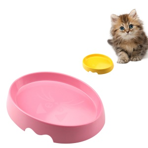 SPICE PAWS Pet Bowl Widen Anti-slip Non-tip Rubber Cat Dog Kitten Puppy Food Water Feeder Bowl - Pink