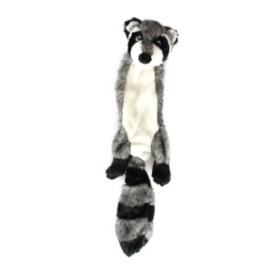 Plush Animal Toy Raccoon Fox Squeaky Toys Unstuffed Chew Toy - Raccoon