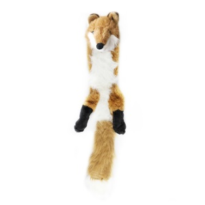 Squeaky Toys Unstuffed Chew Toy Plush Animal Dog Toy - Fox