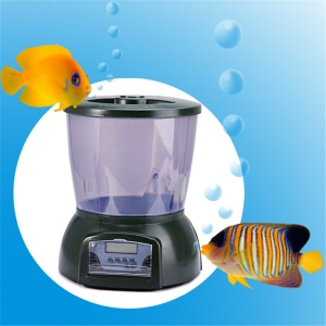 LCD Digital Display 4.25L Large Capacity Fish Feeder Automatic Dispenser Pond Tank Holiday Food Timer