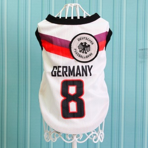 Size: 5XL / White Number 8 Germany