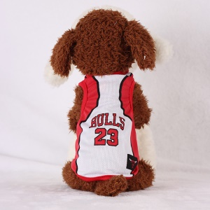 Size: XXL / Red and White Number 23 Bulls