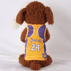 Size: XXL / Yellow and Purple Number 24 Lakers