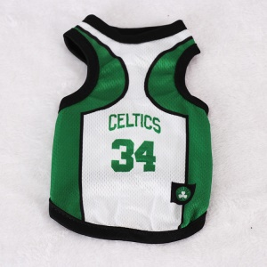 Size: XXL / White and Green Number 34 Celtics