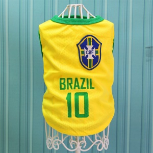 Size: L / Yellow Number 10 Brazil