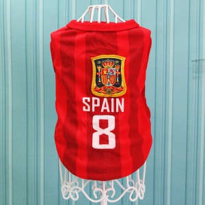 Size: L / Red Number 8 Spain