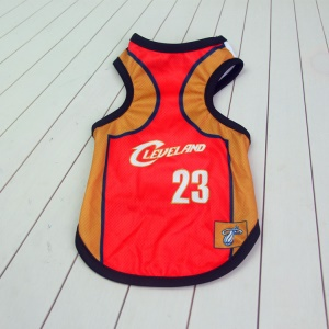 Size: XS / Red and Brown Number 23 Cleveland