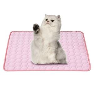 Portable Summer Cooling Ice Mat Heat Dissipation Puppy Pet Cool Pad, Size: 70 x 56cm - Pink