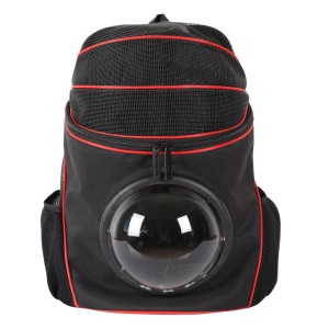 Space Cabin Pet Carrier Bag Travel Cat Dog Carrier Breathable Backpack - Black