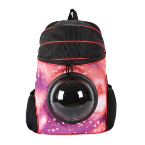 Portable Space Cabin Pet Carrier Bag Travel Cat Dog Carrier Breathable Backpack - Rose