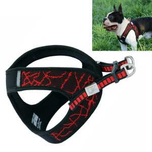 BORORO V8 Soft Padded Adjustable Pet Harness Vest for Cat & Dog - Red / Size L