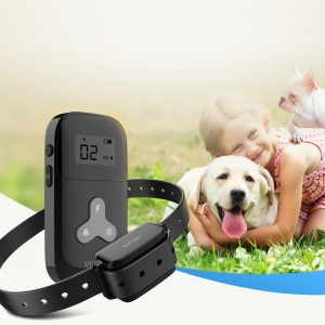VINSIC VSAA010B Rechargeable Dog Training Collar 5 Levels 300 Meters Remote Control with LCD Display