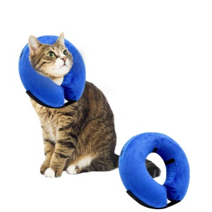 Inflatable Cat Dog Recovery Wound Healing Protective Collar Anti-bite E-Collar - Size: XL