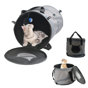 3-in-1 Collapsible Cat Tunnel / House / Carrier Indoor Outdoor Play with Fun Ball