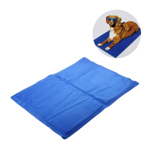 Pet Cooling Gel Pad for Dogs and Cats, Size: S (40 x 50cm) - Blue