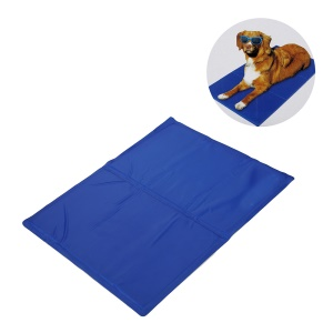 Non-Toxic Pet Cooling Gel Pad for Puppies and Cats, Size: M (50 x 65cm) - Blue