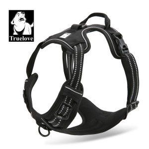 TRUELOVE No-pull Dog Harness with Handle (TLH5651) - Black / Size: M