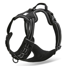 TRUELOVE Outdoor Adventure Pet Vest No-pull Dog Harness with Handle (TLH5651) - Black / Size: XL