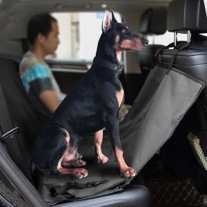 Pet Seat Cover with Extra Side Flaps for Cars, Waterproof and Scratch Proof  - Black