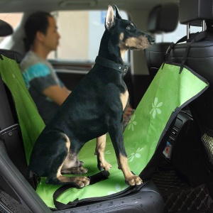 Waterproof and Wear Resistant Pet Seat Cover Car Seat Cover for Pets - Green / Flowers