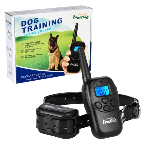 IT798 Electronic Dog Training Collar Waterproof and Rechargeable Active Dog Collar - EU Plug